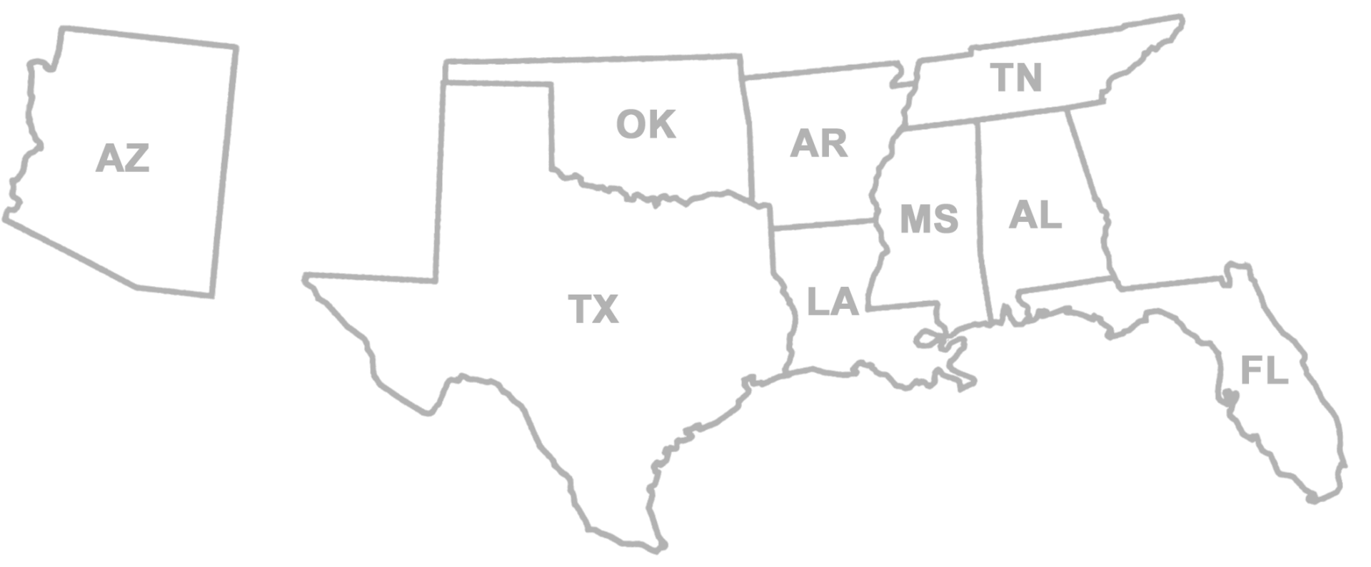 License Map Abbreviations